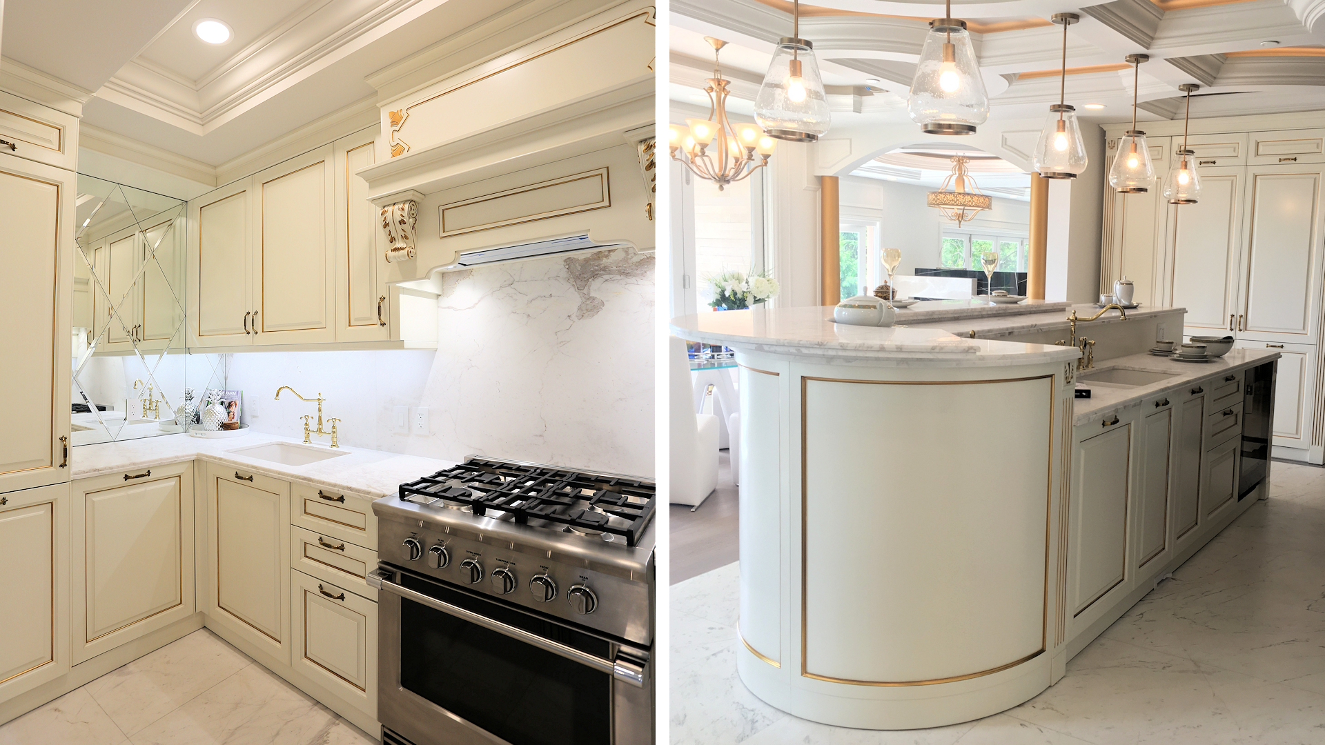 Groveland Rd, West Vancouver - Martini Kitchen with Island